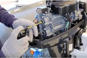 Консервация лодочного мотора