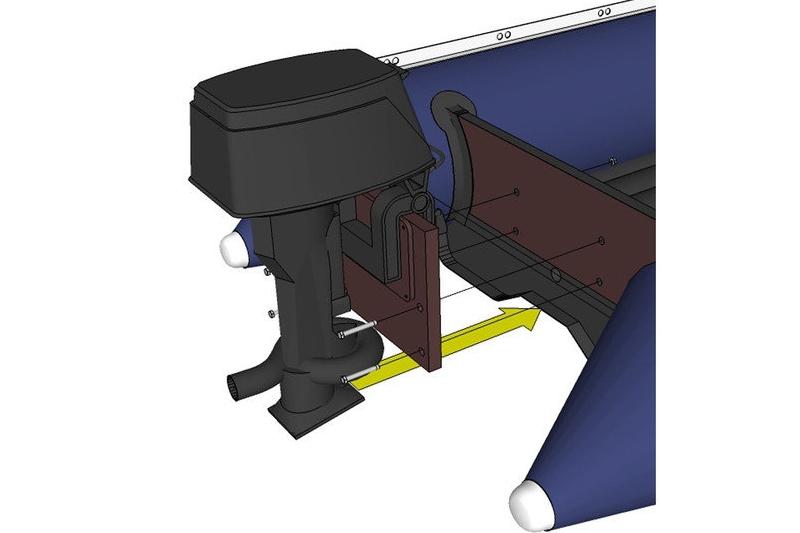 Установка водометного двигателя на лодку Солар 380 jet tonnel
