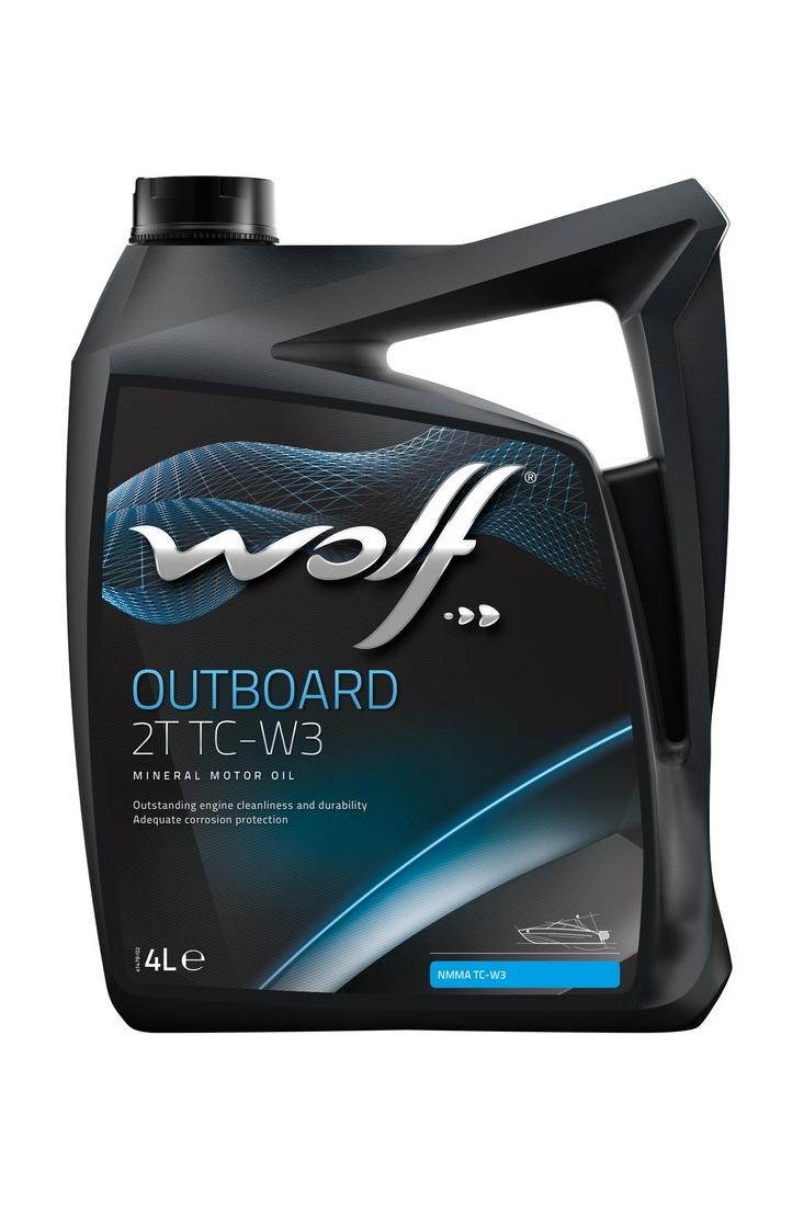 Масло Wolf Outboard 2T TC-W3 минеральное 4 л